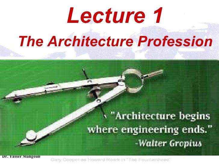 The Architecture Profession Slide 2