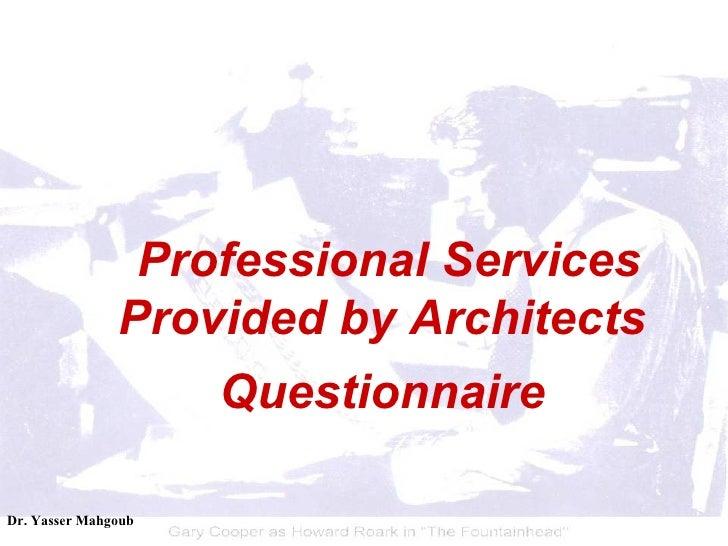 The Architecture Profession Slide 3