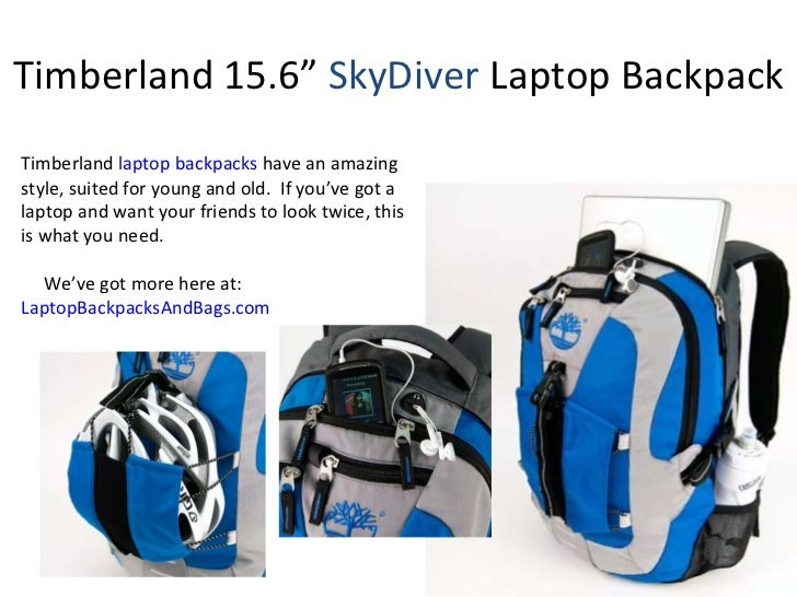 """Timberland 15.6""""  SkyDiver  Laptop Backpack Timberland  laptop backpacks  have an amazing style, suited for young and old...."""