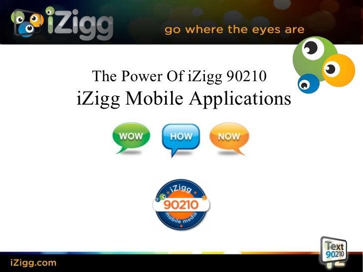 The Power Of iZigg 90210  iZigg Mobile Applications