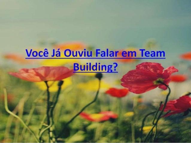 Você Já Ouviu Falar em Team Building ?