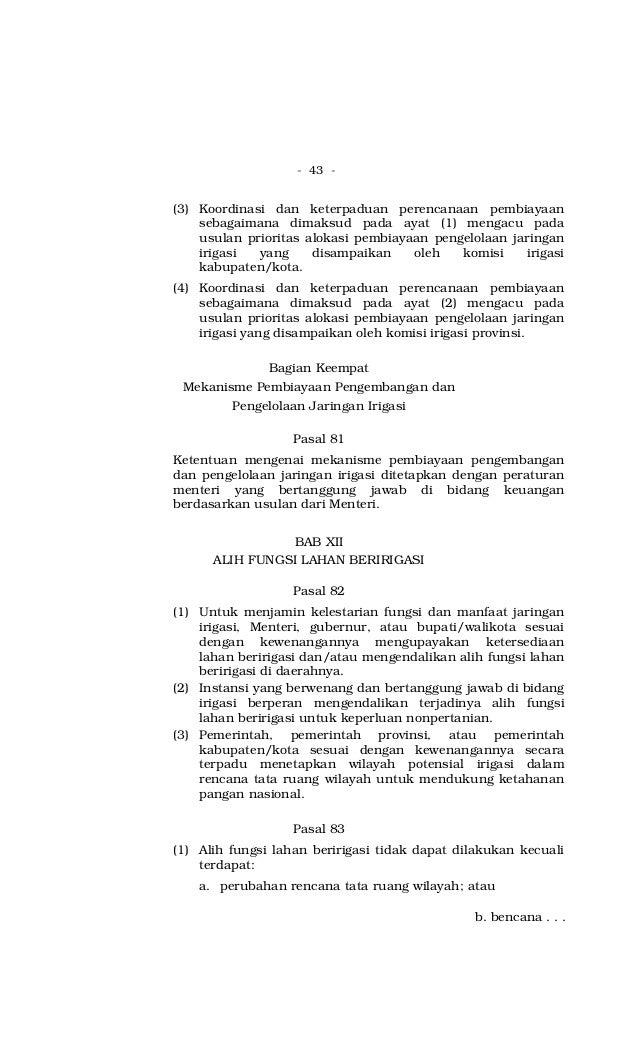 - 43 - (3) Koordinasi dan keterpaduan perencanaan pembiayaan sebagaimana dimaksud pada ayat (1) mengacu pada usulan priori...