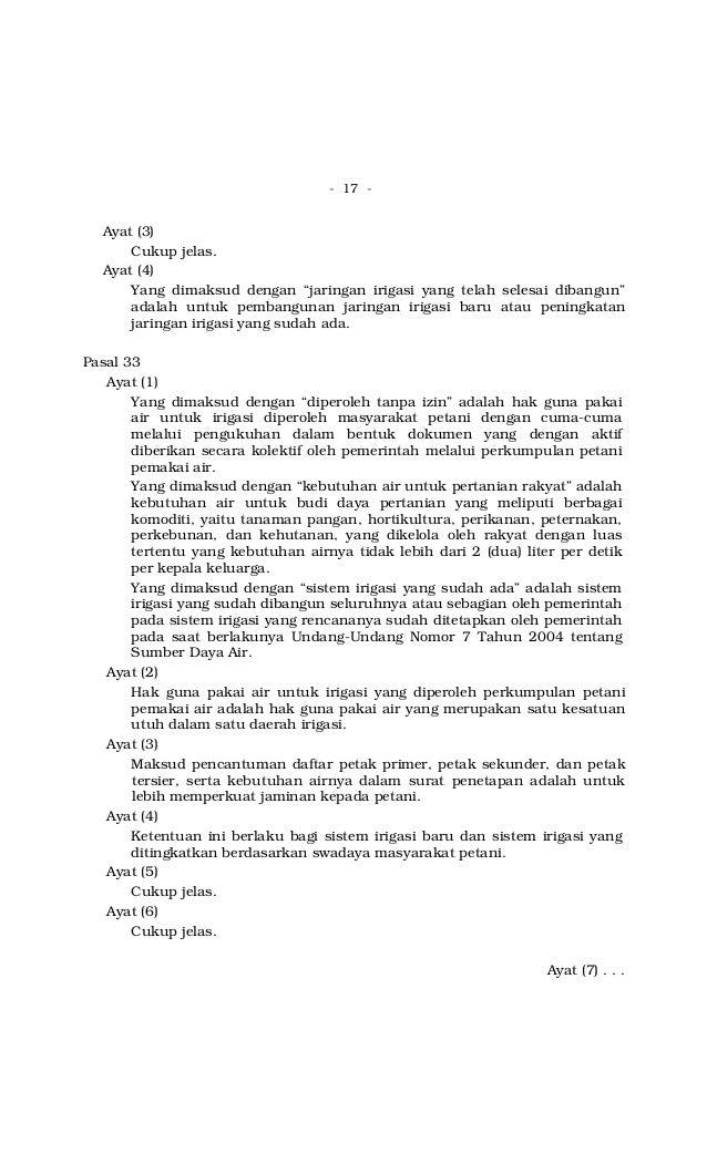 Peraturan Pemerintah No. 20 Tahun 2006 tentang Irigasi