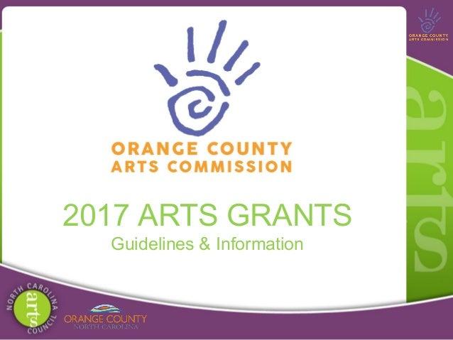 2017 ARTS GRANTS Guidelines & Information