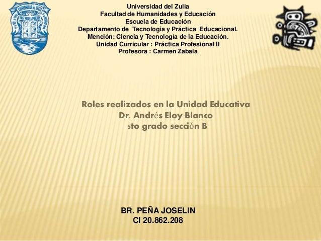 Universidad del Zulia Facultad de Humanidades y Educación Escuela de Educación Departamento de Tecnología y Práctica Educa...