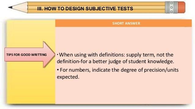 constructing test items