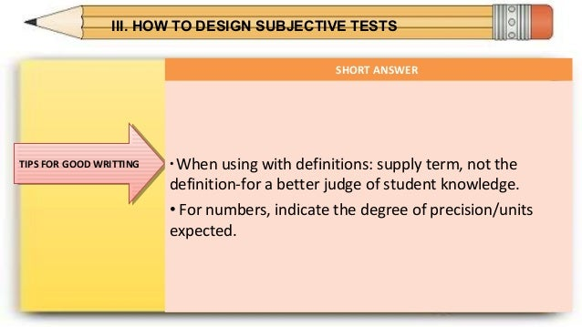 essay test vs objective test Multiple choice and other objective tests essay tests multiple choice and other objective tests these words are a key to answering objective test questions.