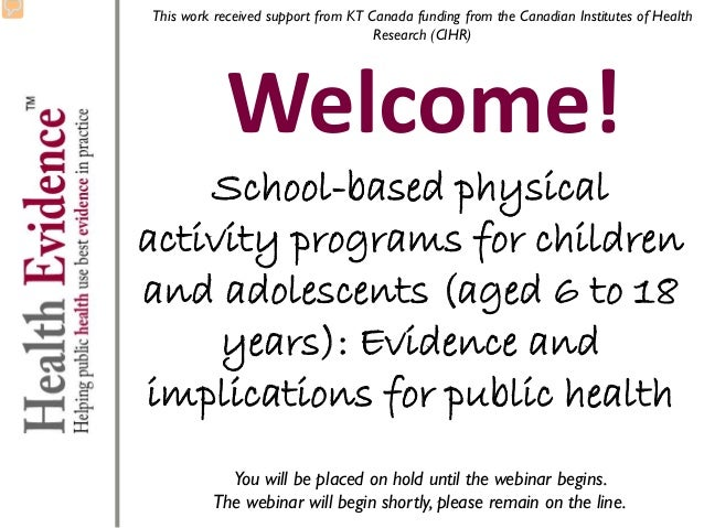 This work received support from KT Canada funding from the Canadian Institutes of Health Research (CIHR)  Welcome!  School...