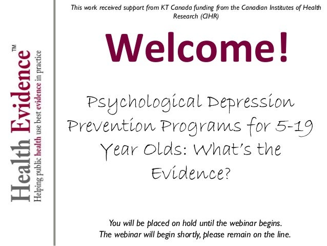 This work received support from KT Canada funding from the Canadian Institutes of Health Research (CIHR)  Welcome! Psychol...