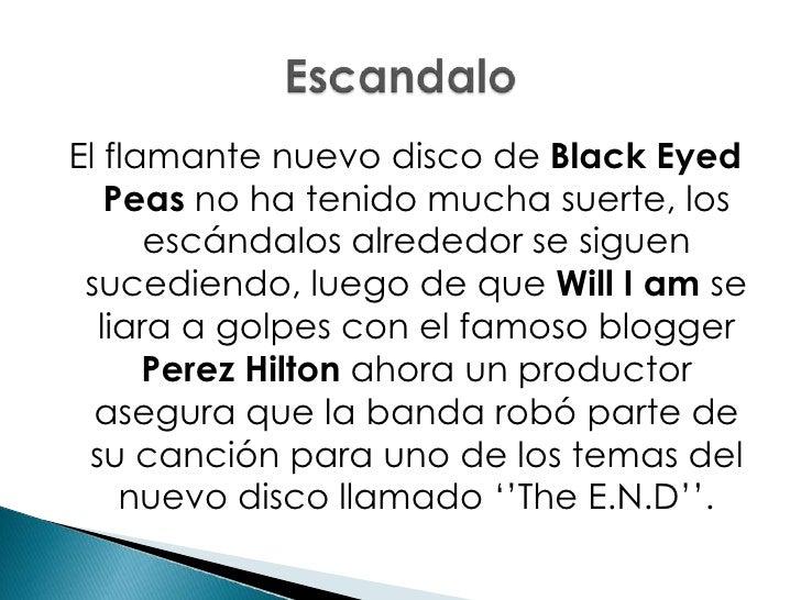 El flamante nuevo disco de Black Eyed Peas no ha tenido mucha suerte, los escándalos alrededor se siguen sucediendo, luego...