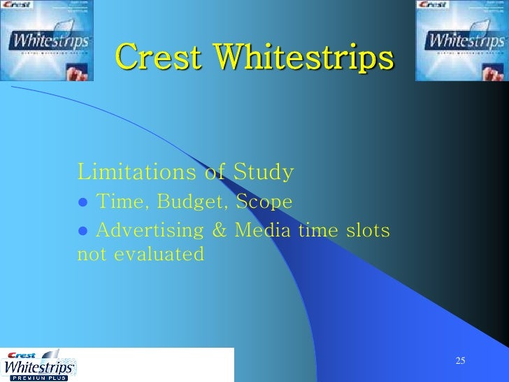 swot analysis of crest white strips This allows the firm to develop new products like crest whitestrips that consumers a swot analysis for p&g would indicate that the innovation that takes place.