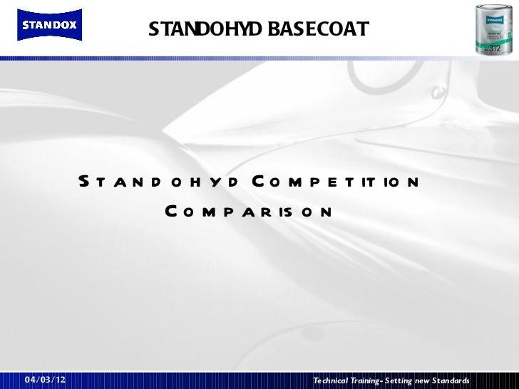 STANDOHYD BASECOAT           S t a n d o h y d C o m p e t it io n                    C o m p a r is o n04/03/12          ...