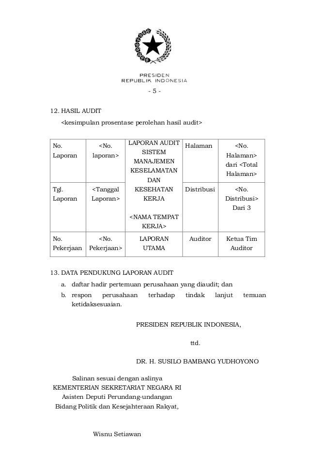 Peraturan Pemerintah No 50 Tahun 2012 Tentang Penerapan
