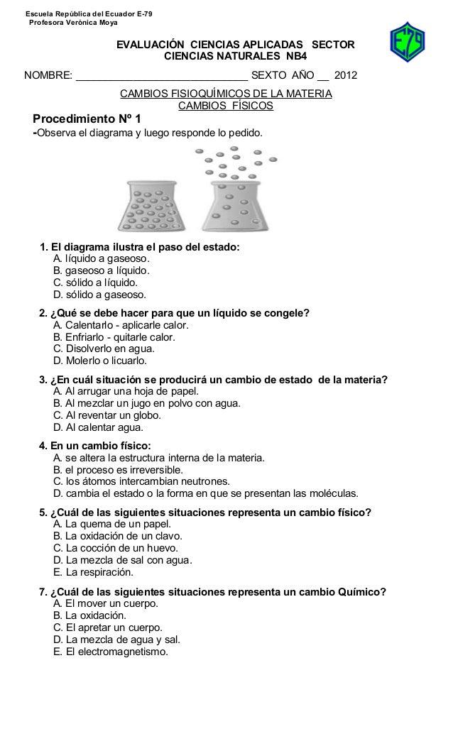 Pp 6º cambios físicos y químicos experimental 2012
