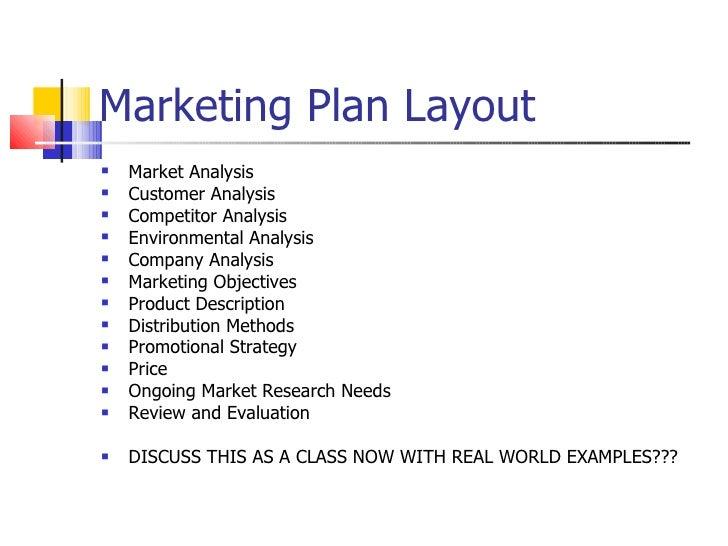 marketing plan layout
