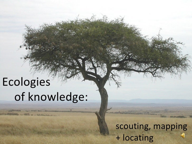 Ecologies of knowledge: scouting, mapping  + locating