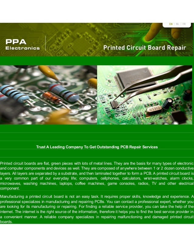 Trust A Leading Company To Get Outstanding PCB Repair Services Printed circuit boards are flat, green pieces with lots of ...