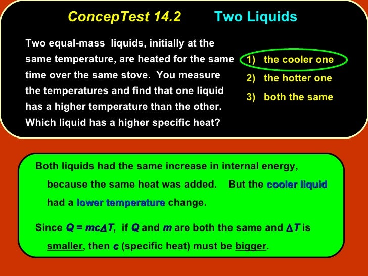 Higher Temperatures Equal Lower Test >> Ppa6 Concep Tests Ch 14