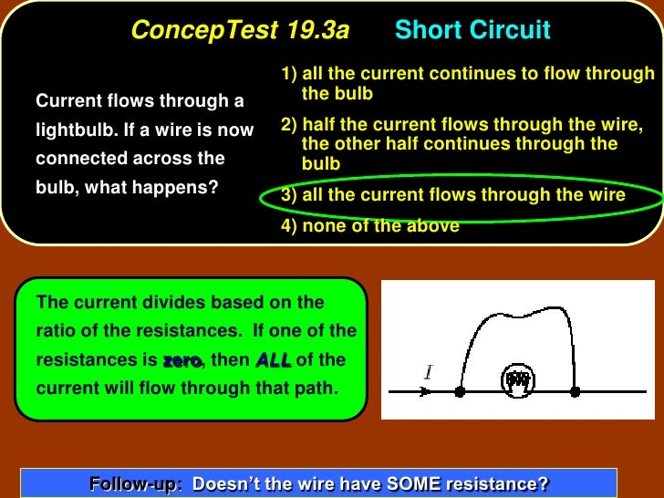 ConcepTest 19.3a                Short Circuit                               1) all the current continues to flow through C...