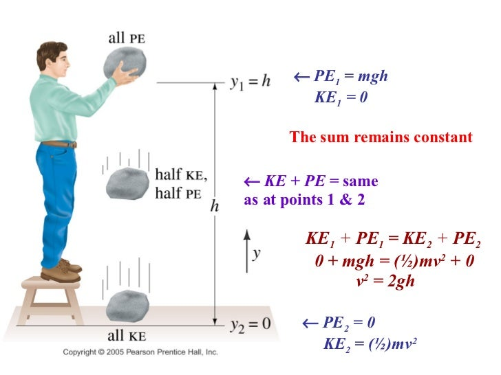 Energy (Calculating GPE (g = acceleration due to gravity ...