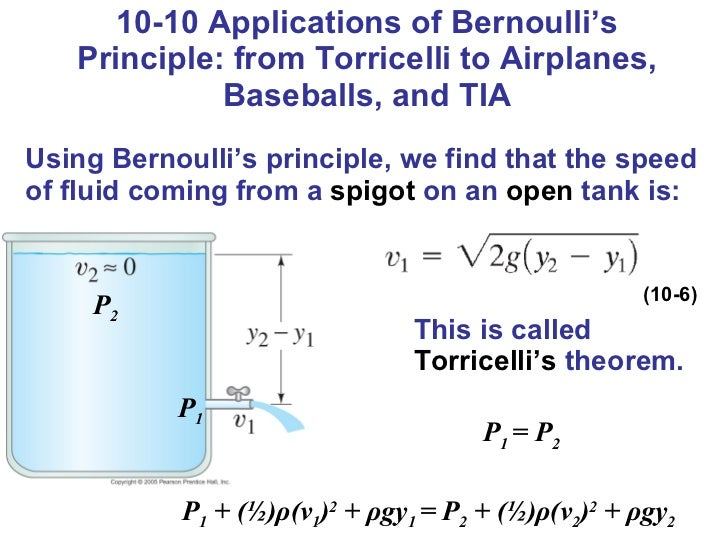 application of bernoulli s theorem