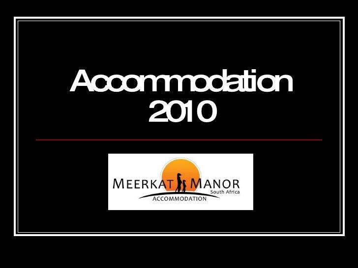 Accommodation 2010