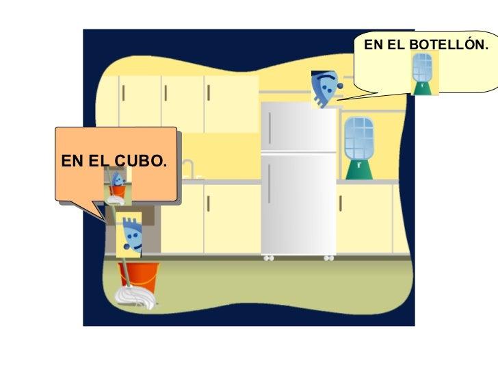 EN EL CUBO. EN EL BOTELLÓN.