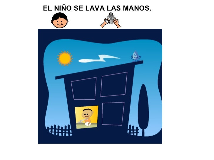 EL NIÑO SE LAVA LAS MANOS.