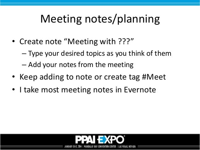 evernote meeting notes template - using evernote for salespeople