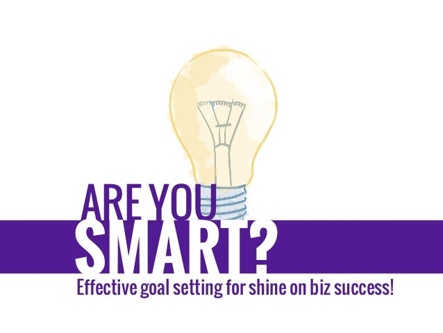 how to write smart goals for business