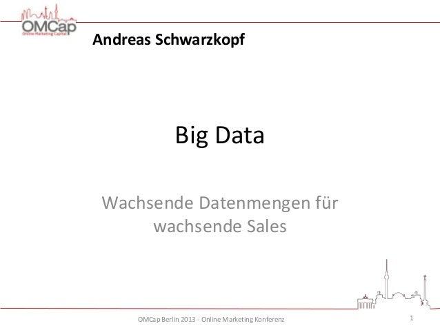 Andreas Schwarzkopf  Big Data Wachsende Datenmengen für wachsende Sales  OMCap Berlin 2013 - Online Marketing Konferenz  1