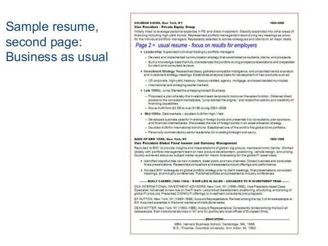 second page of resume