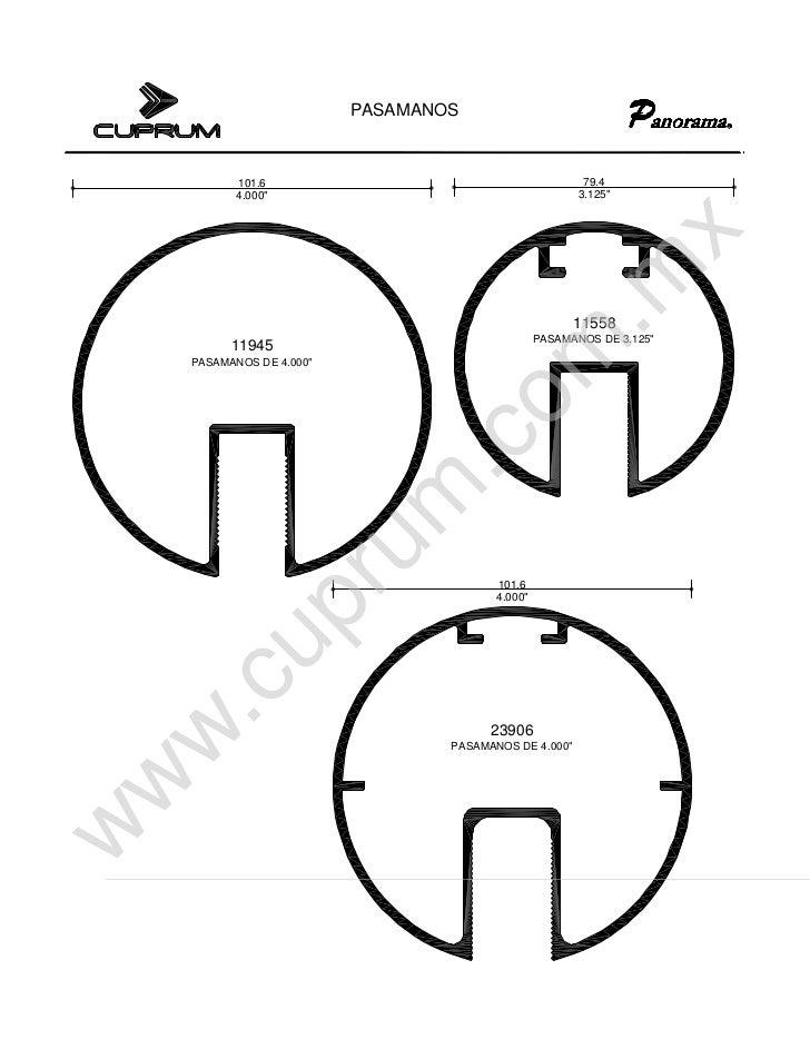 Cuprum pasamanos for Pasamanos de aluminio
