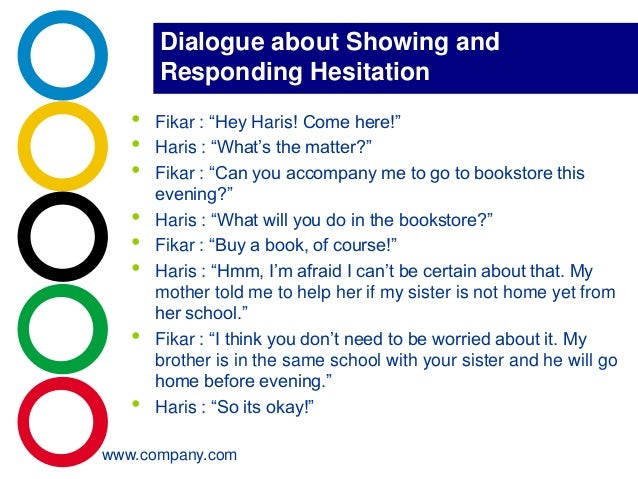 Showing Respond For Hesitation