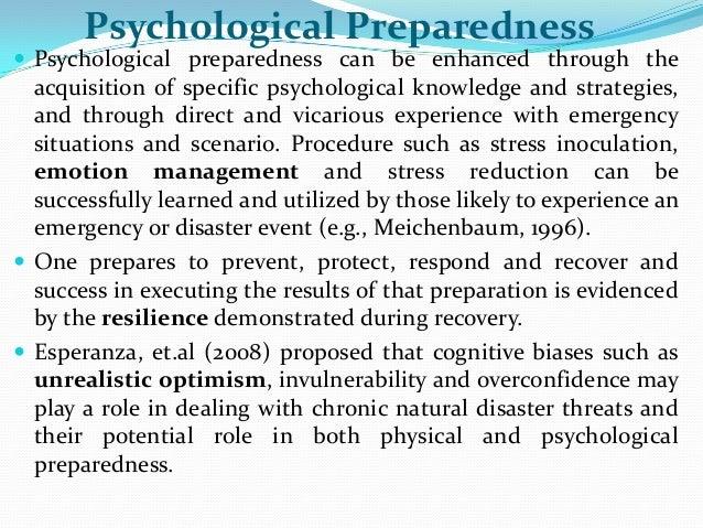 preparedness psychology