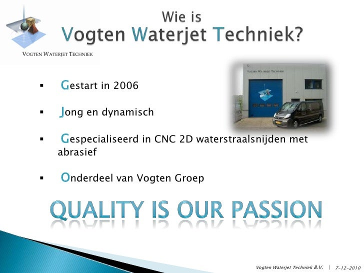 Bedrijfspresentatie Vogten Waterjet Techniek Slide 2