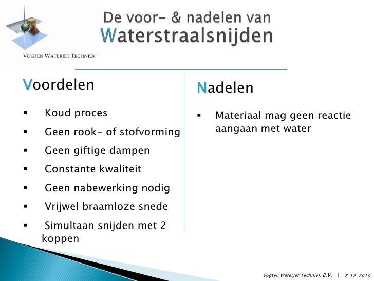 Bedrijfspresentatie Vogten Waterjet Techniek Slide 3