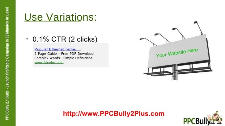 Use Variations:  ●  0.1% CTR (2 clicks)  Popular Ethernet Terms  2 Page Guide - Free PDF Download Complex Words - Simple D...