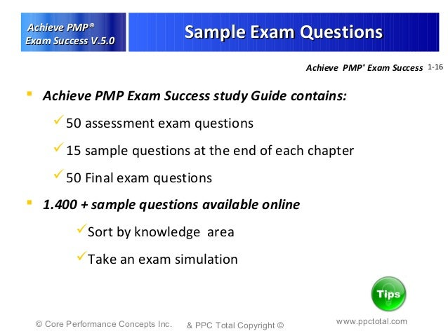 Pmp study tips ppc total study tips for the certification ver e131 pmp exam success 16 yadclub Gallery