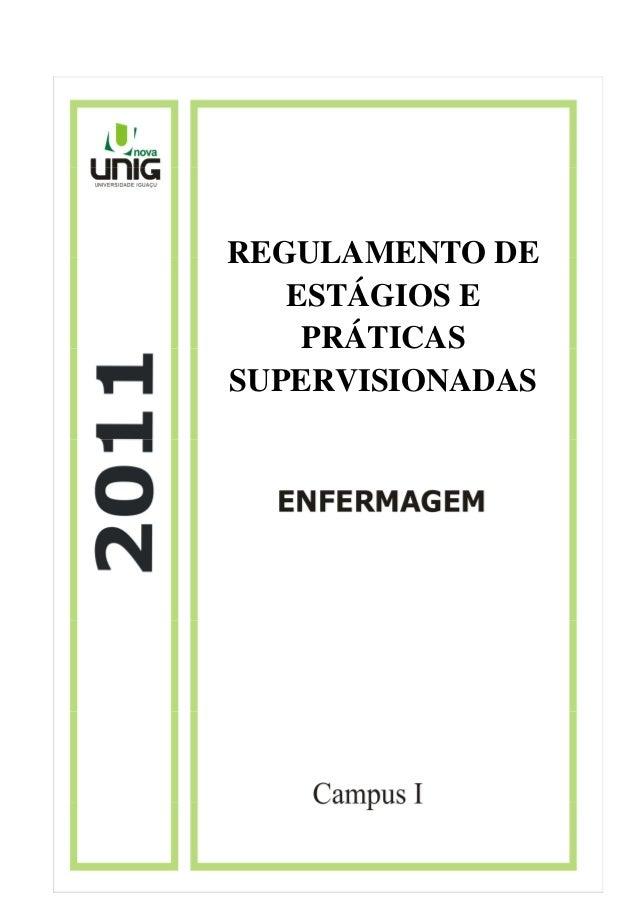 REGULAMENTO DE ESTÁGIOS E PRÁTICAS SUPERVISIONADAS