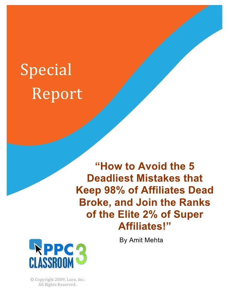 """Special     Report                                              """"How to Avoid the 5                           ..."""