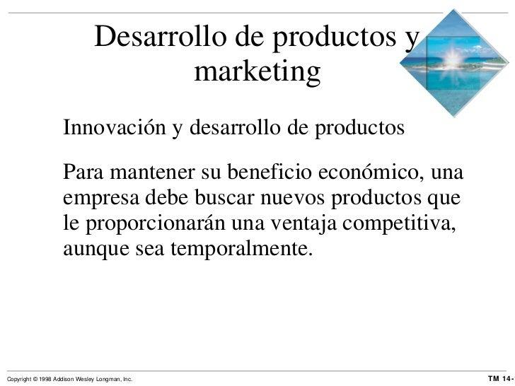 Desarrollo de productos y marketing <ul><li>Innovación y desarrollo de productos </li></ul><ul><li>Para mantener su benefi...