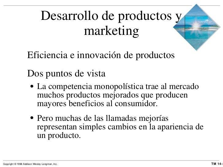 Desarrollo de productos y marketing <ul><li>Eficiencia e innovación de productos </li></ul><ul><li>Dos puntos de vista </l...