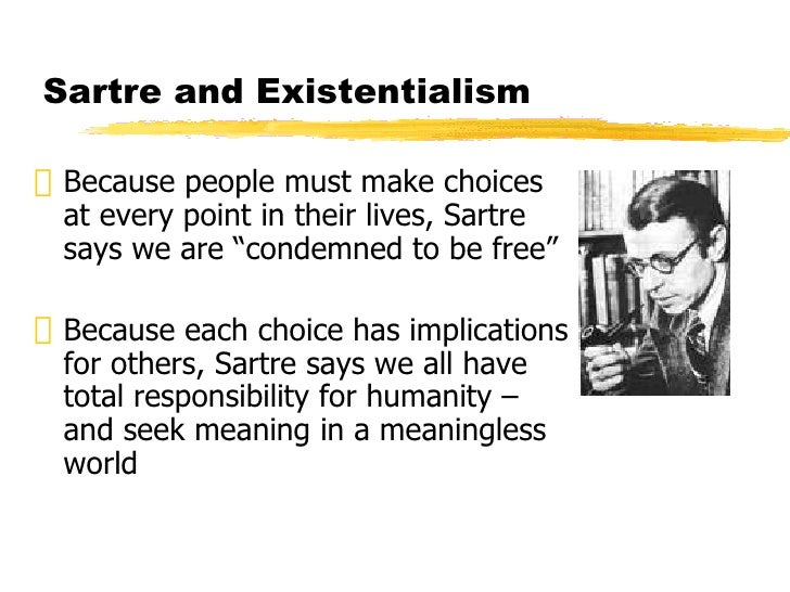 existentialism and choices essay Naturalism in native son free essay and over 88,000 other research documents existentialism vs naturalism in native son freedom and choice.