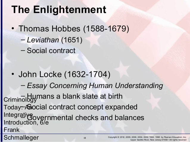 criminology chapter   rights reserved 14 the enlightenment • thomas hobbes
