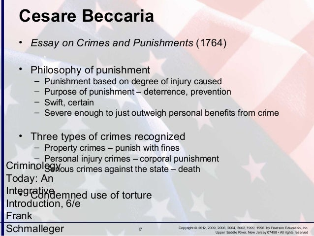 criminology chapter   rights reserved 17 cesare beccaria • essay on crimes