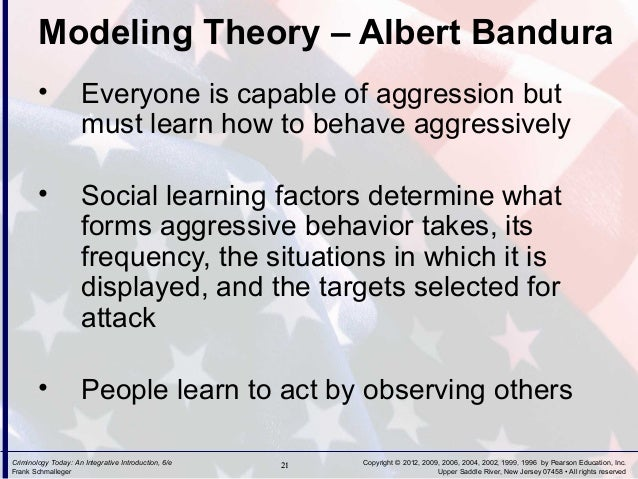 gabriel tarde s and albert bandura s versions of modeling theory Social learning theory began with the studies of jean gabriel tarde, and his theory models on children's albert bandura's criticism of social learning.
