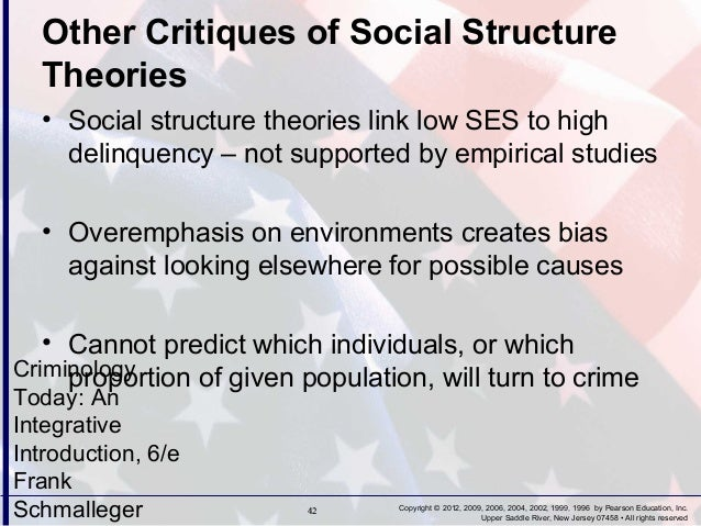 criminology social structure paper This free sociology essay on essay: social structure is perfect for sociology students to use as an example.