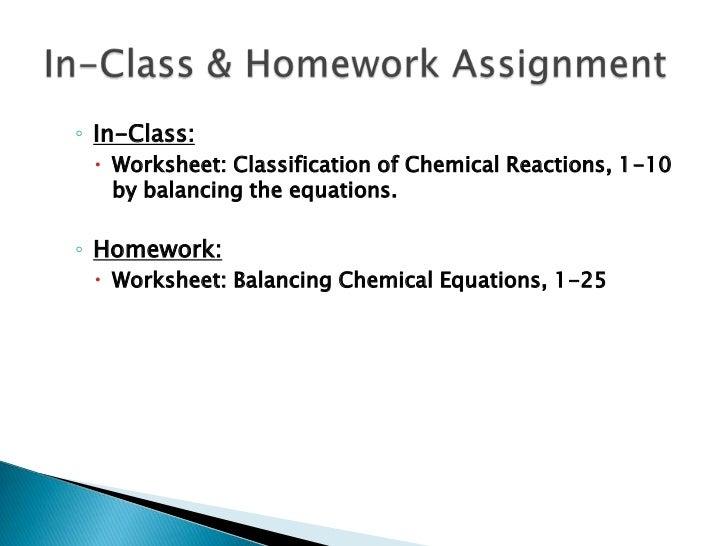 Balancing Chemical Reactions – Chapter 7 Worksheet 1 Balancing Chemical Equations