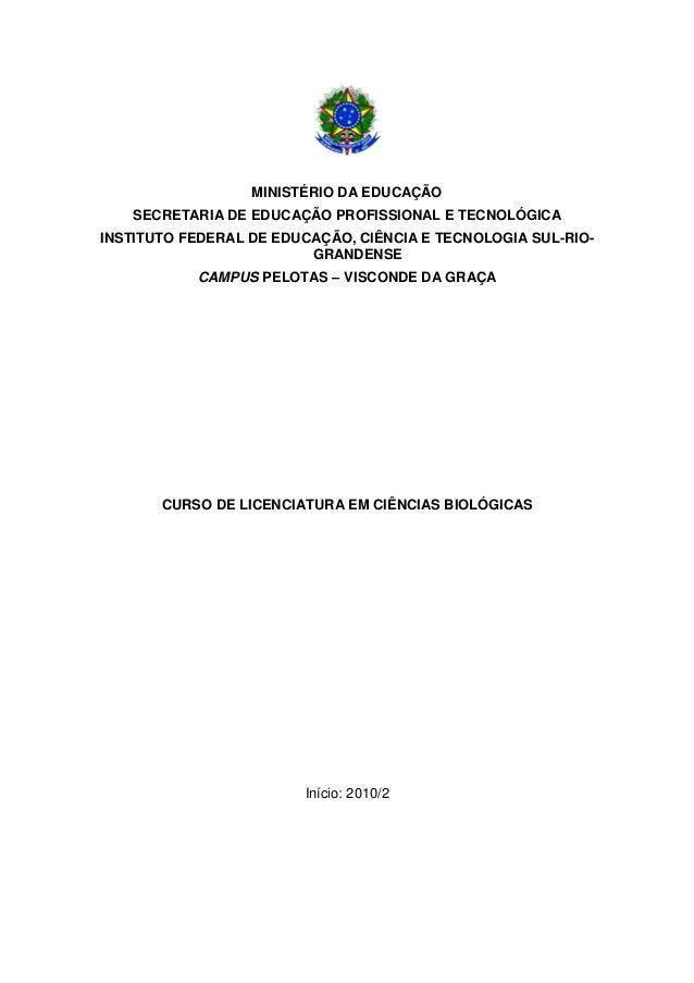 MINISTÉRIO DA EDUCAÇÃOSECRETARIA DE EDUCAÇÃO PROFISSIONAL E TECNOLÓGICAINSTITUTO FEDERAL DE EDUCAÇÃO, CIÊNCIA E TECNOLOGIA...